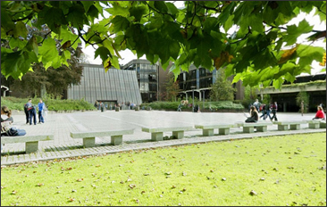 Click to view a panorama - University of Limerick Plaza