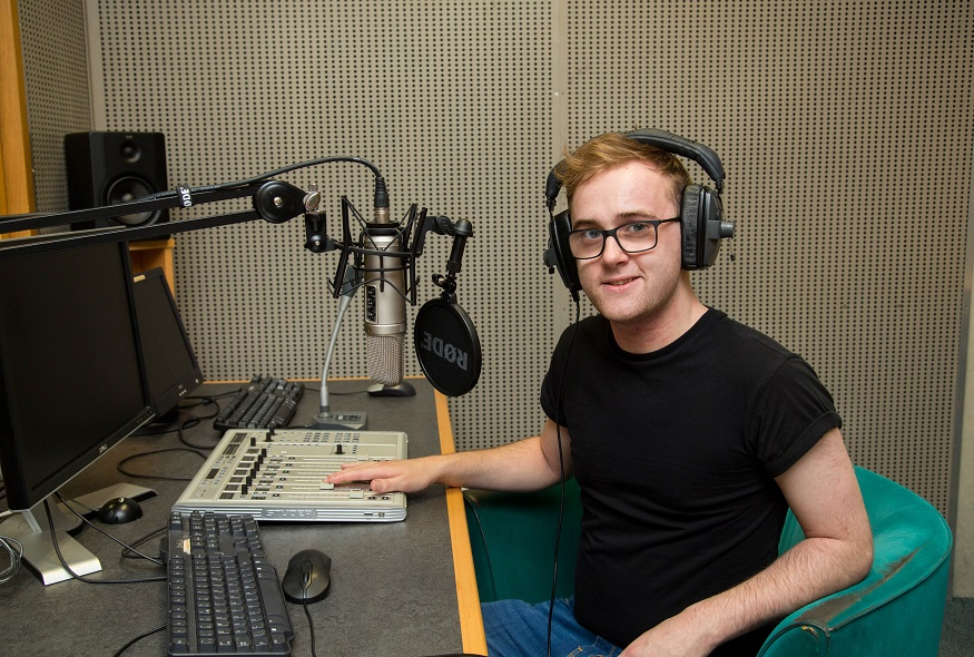 Cillian Sherlock, UL winner of the Live 95FM Radio Award.