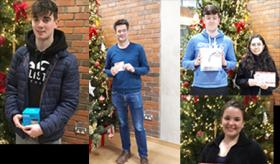 Images of prize winners for UL Library LibQual Survey