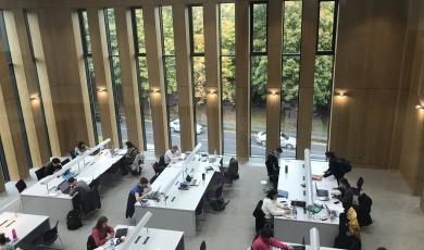 Image of grand reading room in UL Library
