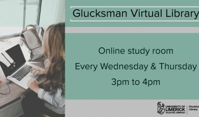Library is running Virtual study rooms every Wednesday and Thursday at 3pm